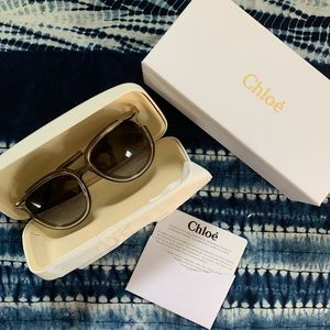 🐚 Chloe Dark Grey Sunglasses CE688S